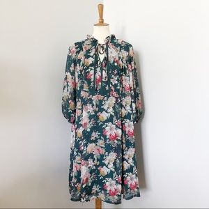 ModCloth Liza Luxe Floral 3/4 Sleeve Dress Size 2X